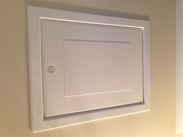 White Loft Hatch Installation
